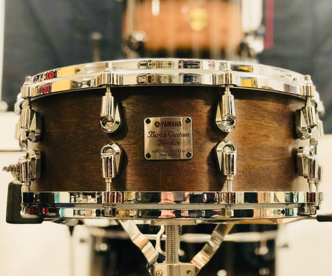 Yamaha Birch Custom Absolute Snare Drum - 14x5.5 - Satin Walnut (MIJ - Used)