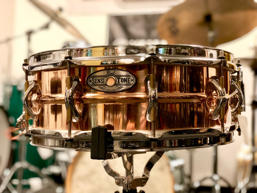 Pearl Sensitone Bronze 14x5 Snare Drum - Demo