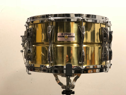 Yamaha Recording Custom Brass Snare Drum - 14x8 (10 lug) - SD-498 (80's - Mint)