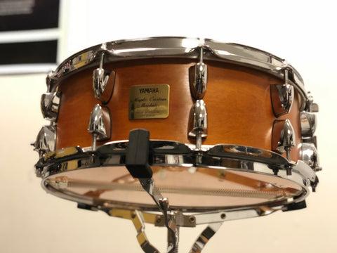 Yamaha Maple Custom Absolute Snare Drum 14x5 - Satin Amber (Mint - MIJ)