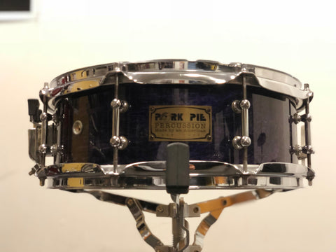 Pork Pie Snare Drum 8 ply Maple 13x5 - Violet Gloss - WITH VIDEO
