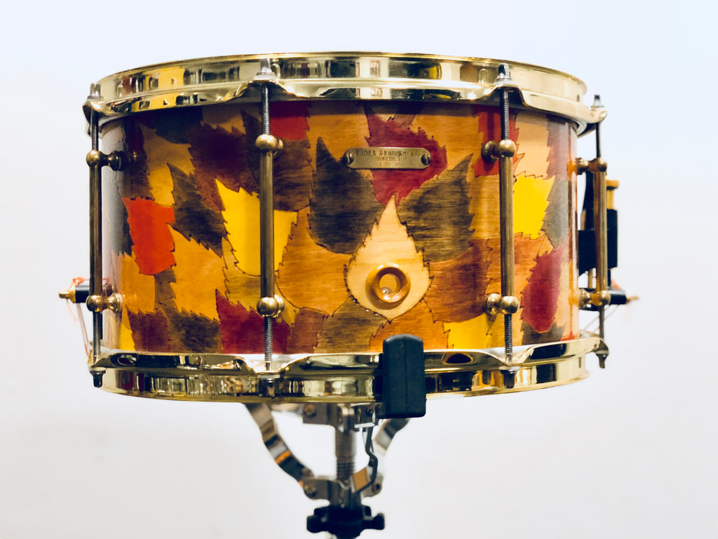 "Eames Custom Snare Drum - 13x7 - ""Autumn Leaves"" finish (Birch - Mint)"