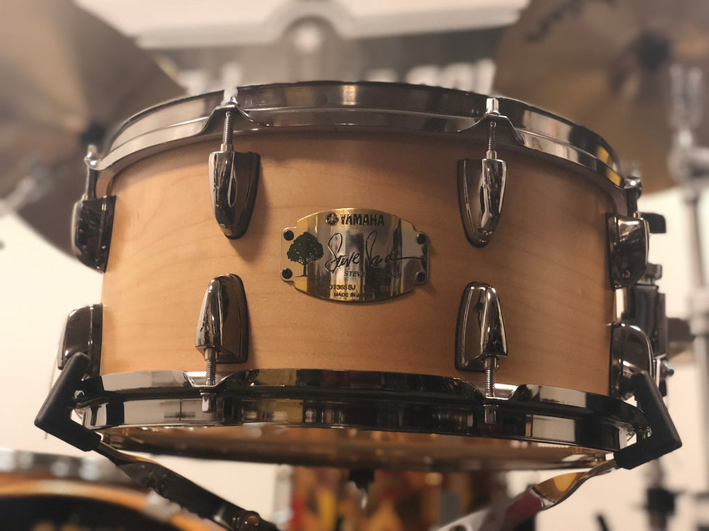Used Yamaha Steve Jordan Signature Snare 13x6.5 - Satin Natural