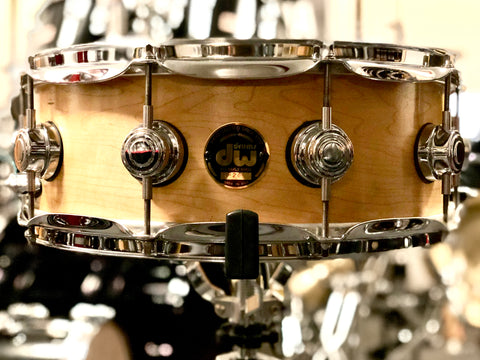 DW/Craviotto Solid Shell Maple Snare Drum - 14x5 - Satin Natural