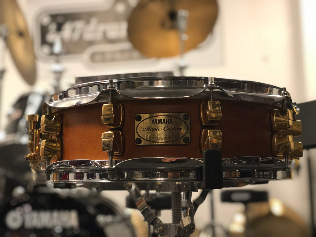 Yamaha Maple Custom Snare Drum 14x4 - Satin Amber (MIJ ) - with video