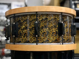 Medicine Man Custom Snare Drum - 14x6.5 - Wood Hoops - Leopard