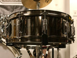 Taye MetalWorks Brushed Black Nickel Brass Snare Drum 14x5 - 2019 NAMM Show Demo~! - WITH VIDEO
