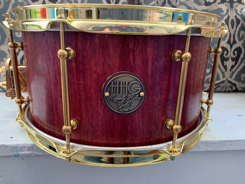 HHG Drums Purpleheart Stave Snare Drum - 14x7