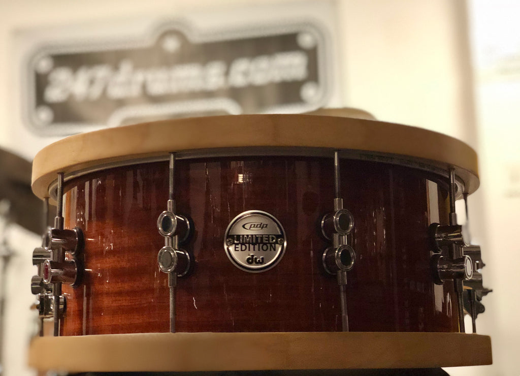 PDP Limited Edition Maple/Bubinga 20-ply Snare Drum 14x5.5 - Wood hoops - used