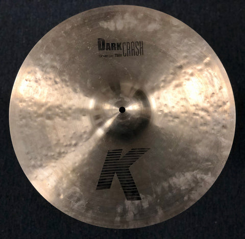 Zildjian K Dark Thin Crash Cymbal 19 - 1576 grams