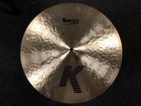 Zildjian K Dark Thin Crash Cymbal 17 - 1237 Grams
