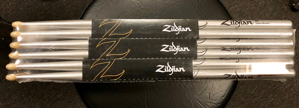 Zildjian Drum Sticks - 5A - Chroma Silver