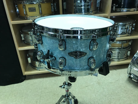 SOLD OUT ! Tama  Starclassic Snare (Birch Bubinga) PRS65 - Ice Blue Pearl (DISCOUNTED PRICE!)