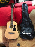 Ibanez IJV30 Jumpstart Acoustic Guitar Package - (EXTRA - electronic tuner and gig bag) 3/4 size guitar.