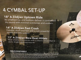 "A Series Zildjian City Pack cymbal set - 12"" New Beats, 14"" A Fast Crash, 18"" A Zildjian Uptown Ride"