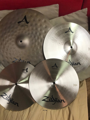 "Zildjian City Pack - set of cymbals - 12"" New Beats, 14"" A Fast Crash, 18"" A Zildjian Uptown Ride"