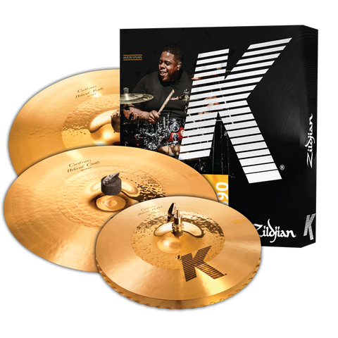 "K CUSTOM HYBRID CYMBAL SET - Aaron Spears - 17"" K Custom Hybrid Crash - ADDED VALUE"