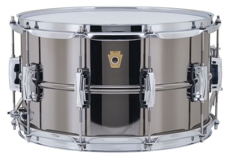 "Ludwig Supraphonic Black Beauty Brass Shell Snare Drum 5X14"" - made in the USA!"