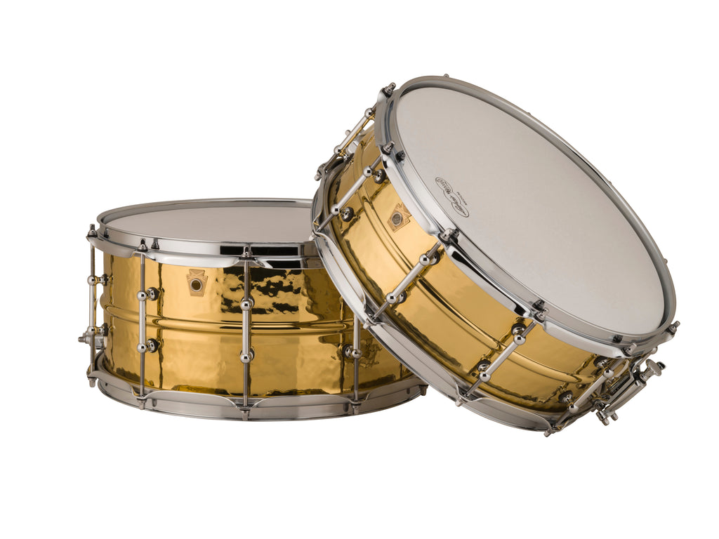 "Ludwig Hammered Brass LB420BKT 5x14"" or LB422BKT 6.5x14"" - made in the USA!"