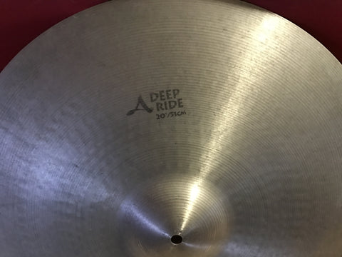 SOLD OUT: Zildjian A Deep Ride 20 Used SAVE FEES and BUY DIRECT at 247drums.com FREE US SHIPPING