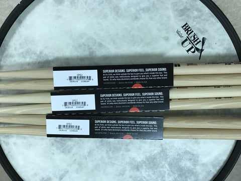 "Vic Firth -  Peter Erskine ""Ride Stick"" Model: ( SPE2 ) Signature Sticks- 3 pair deal! Extra long taper and tear drop tip for enhanced cymbal response. Beefed up shaft for extra power."