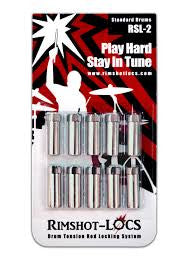 Rimshot-Locs  RSL 2 (Standard Drums) PLAY HARD...STAY IN TUNE! (FREE SHIPPING WORLDWIDE)