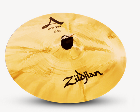 "Zildjan A Custom Crash 16"" Cymbal/ FREE 1 Hour Skype Lesson/FREE 3 years Warranty"