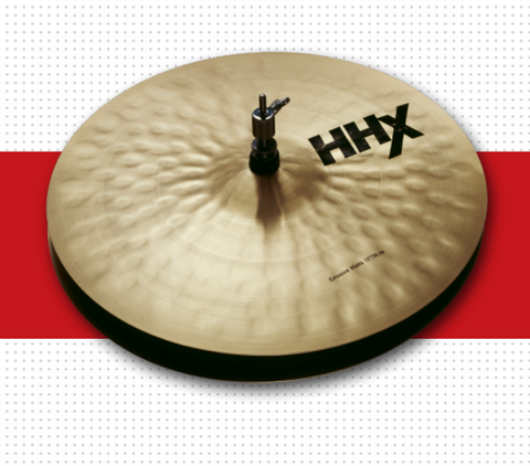 "14"" HHX GROOVE HATS"