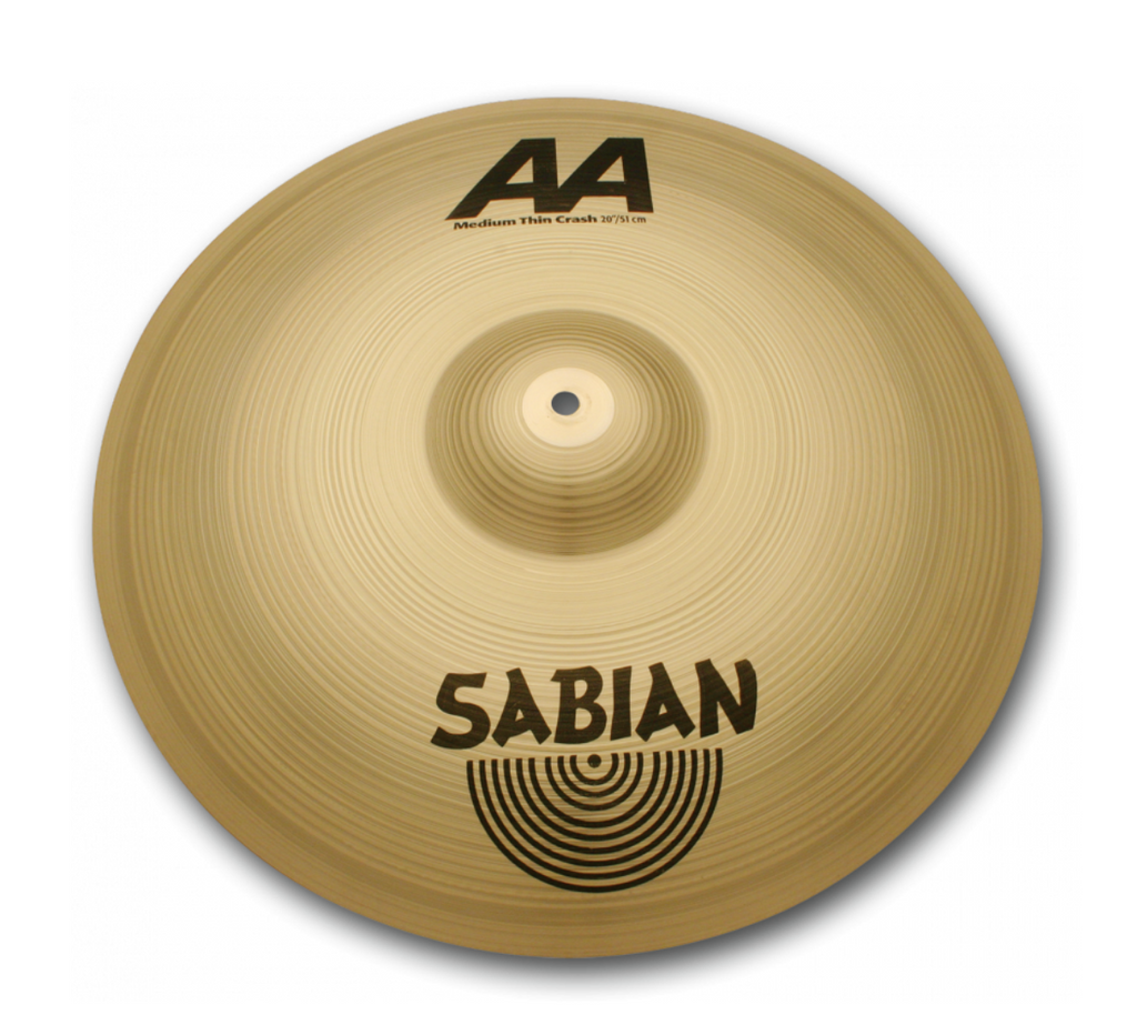 "SABIAN 18"" AA Medium Thin Crash CYMBAL Catalog Id 21807"