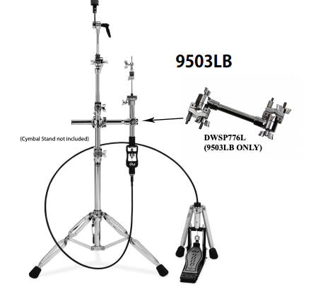 DW 9000 SERIES REMOTE HI-HAT 6ft, W/776L DWCP9503LB6