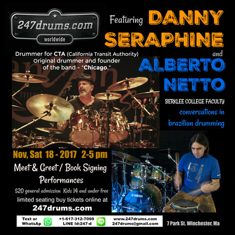 Danny Seraphine(CTA and Founding Member of Chicago) + Alberto Netto (Berklee College Faculty)