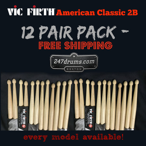 Vic Firth American Classic 2B -12 pair - special pack (FREE SHIPPING)