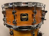 GMS special edition POPLAR MAHOGANY 5.5 by 14 snare drum MINT COND