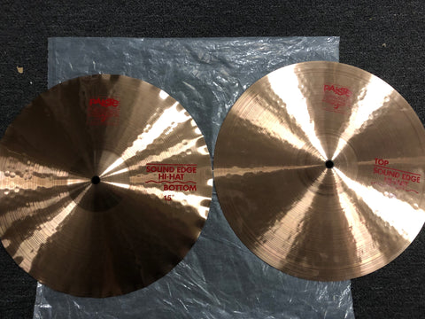 "Paiste 2002 Sound Edge Hi-Hats - 15"" - 1144/1255 grams - New"