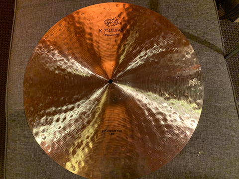 "Zildjian k Constantinople 22"" medium thin low ride cymbal VIDEO"