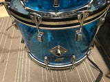 Ludwig rare vistalite 22 12 13 16 + snare BLUE amazing all original no cracks FREE SH USA