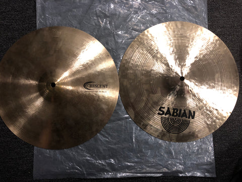 "Sabian Crescent HammerTone Hi-Hats - 14"" - 1142/825 grams - New"