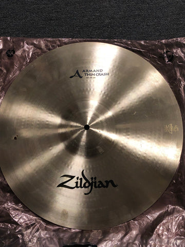 "Zildjian Armand Thin Crash Cymbal - 18"" - 1226 grams - Used"