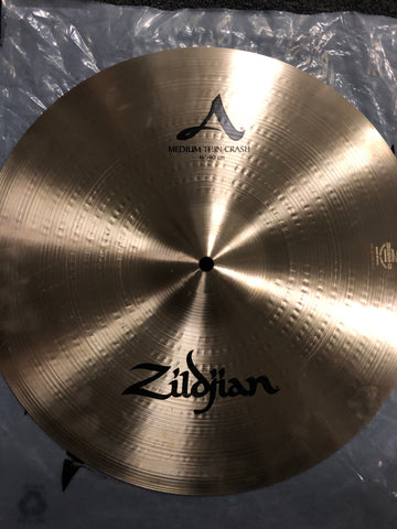 "Zildjian A Medium Thin Crash Cymbal - 16"" - 988 grams - New"