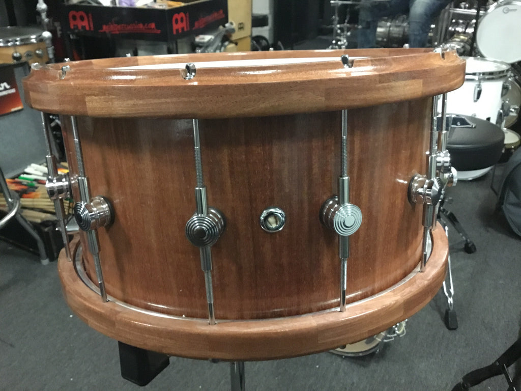 New 3:14 Santos Mahogany Snare Drum 15x8 Made in New England