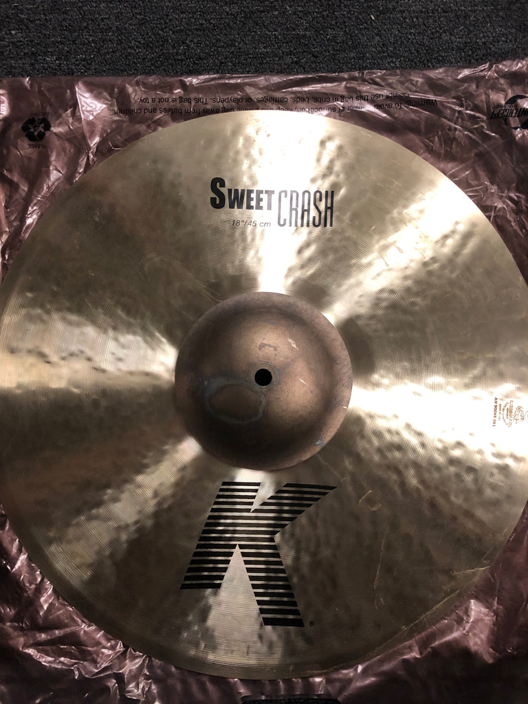 "Zildjian K Sweet Crash Cymbal - 18"" - 1340 grams - New"