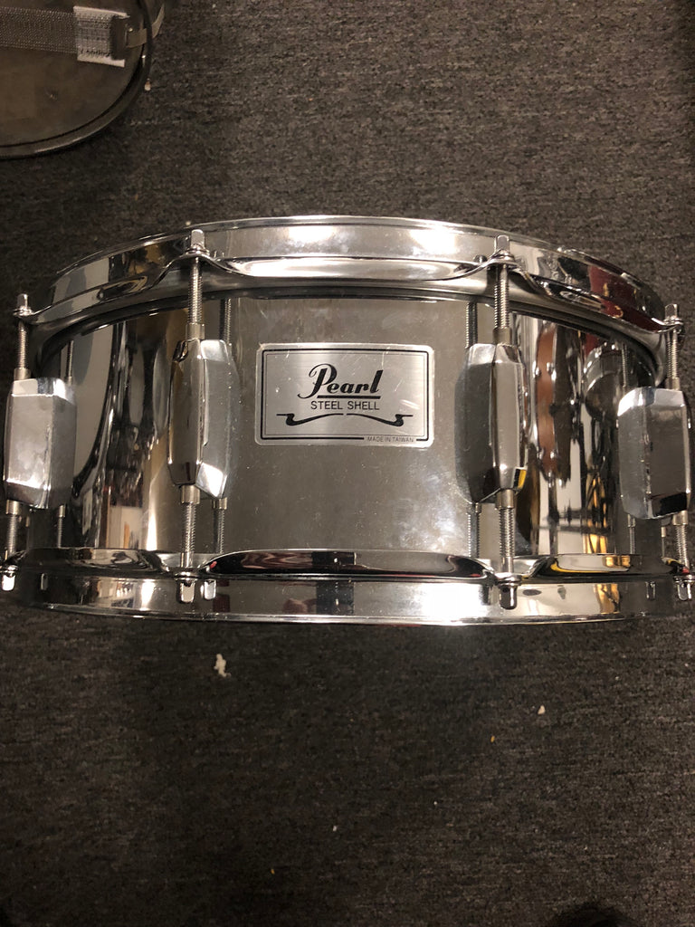 Pearl Steel Shell Snare Drum - 5.5x14 - USED