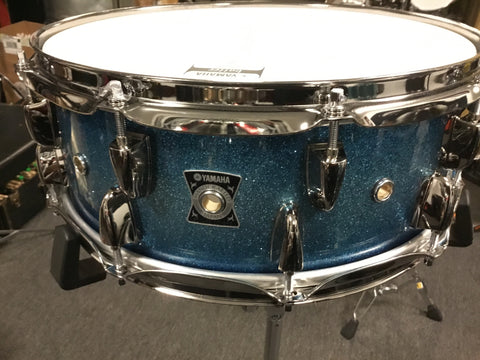 Used MINT Yamaha Loud Series 14x5.5 Oak Snare Drum blue Sparkle Made in Japan
