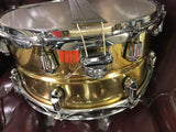 "Yamaha Brass MADE JAPAN 6.5 by 13"" snare drum - WITH VIDEO"
