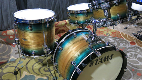 Tama starclassic exotic emerald pacific 4 pc shell pack drum set MINT CONDITION
