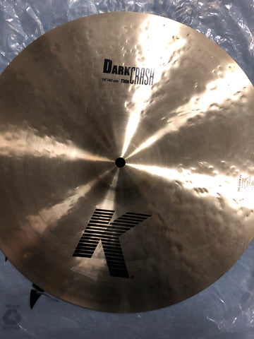 "Zildjian K Dark Crash Cymbal - 16"" - 997 grams - New"