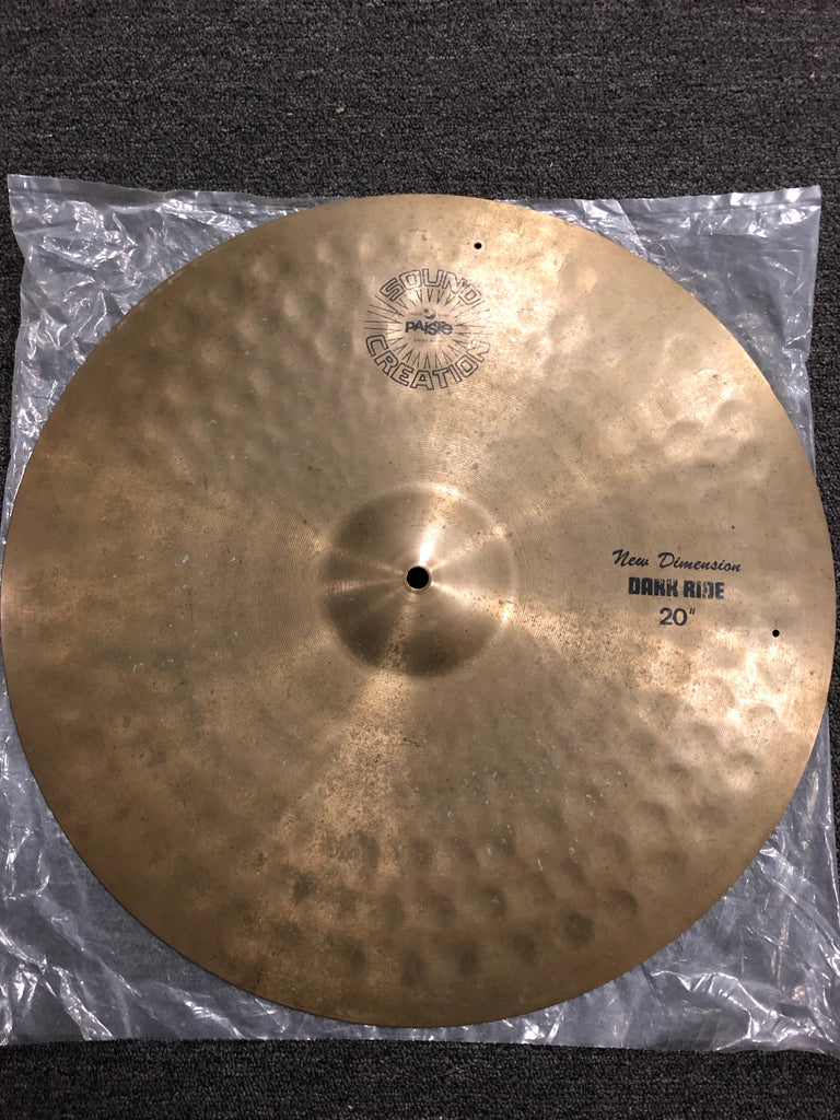 "Paiste Dark Ride Cymbal - 20"" - 2528 grams  - Used"