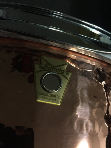Ludwig Copper Hand Hammered Snare Drum - 6.5x14 - Brand new - MIE103890