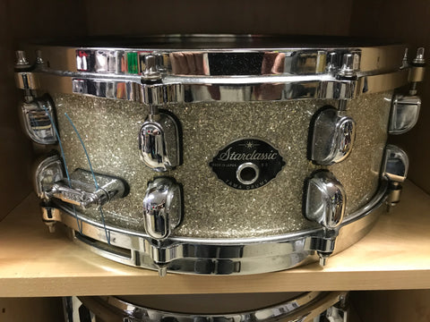 Tama starclassic used mint JAPAN silver sparkle 5 x 14 snare drum
