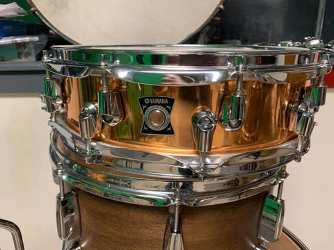 Yamaha Copper Snare Drum Made Japan MIJ 4 x 14 drum
